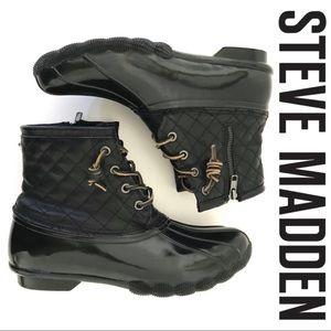 NWT STEVE MADDEN Tillis Quilted Duck Rain Boots